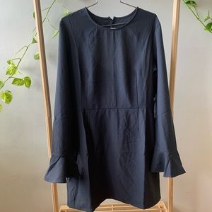 Leith Charcoal Gray Open Back Dress XL